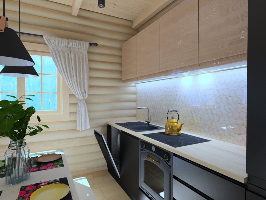 projekt salonu kuchni