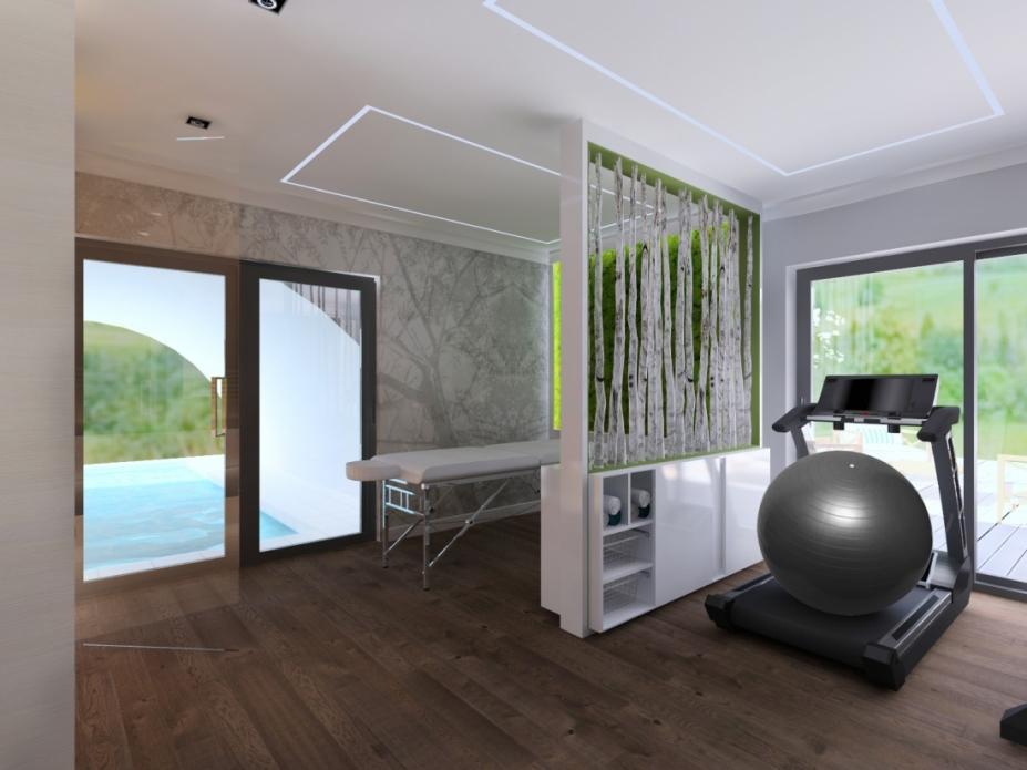sala fitness w domu prywatnym