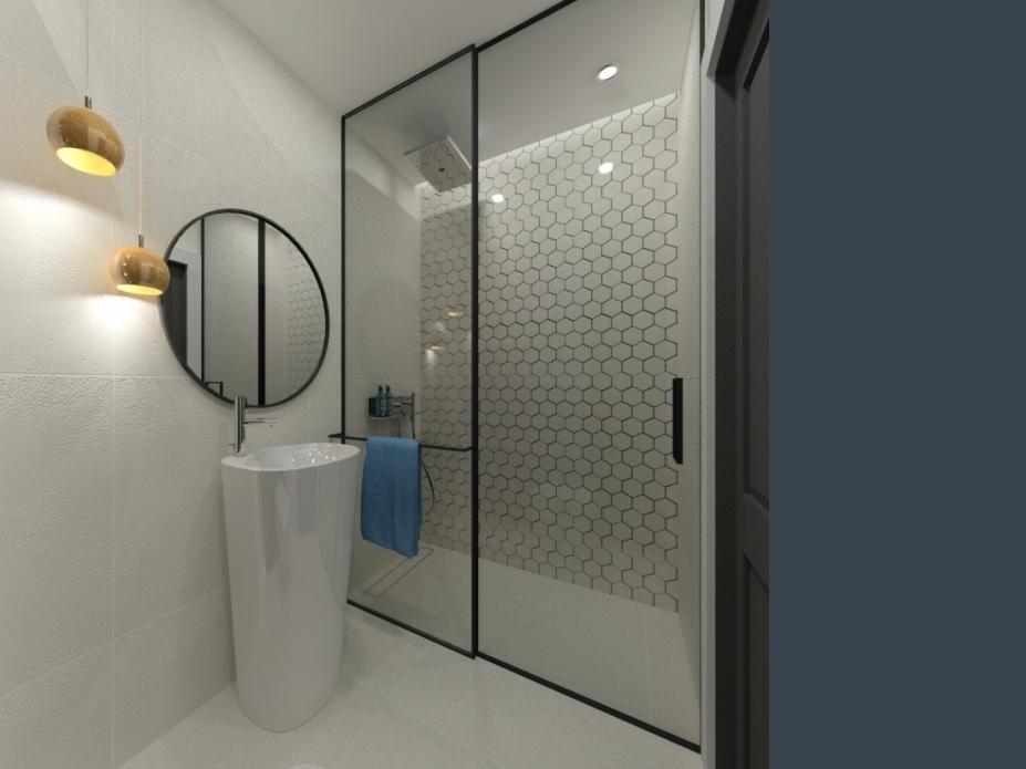 łazienka przy saunie