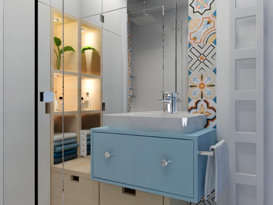 łazienka projekt małej łazienki