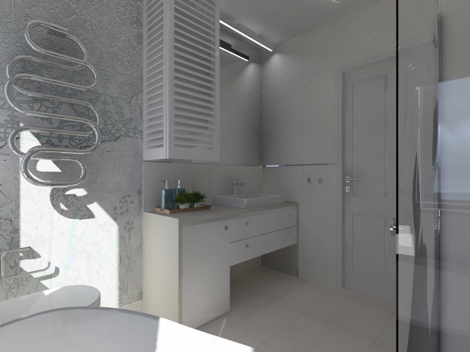 zabudowa pieca w łazience