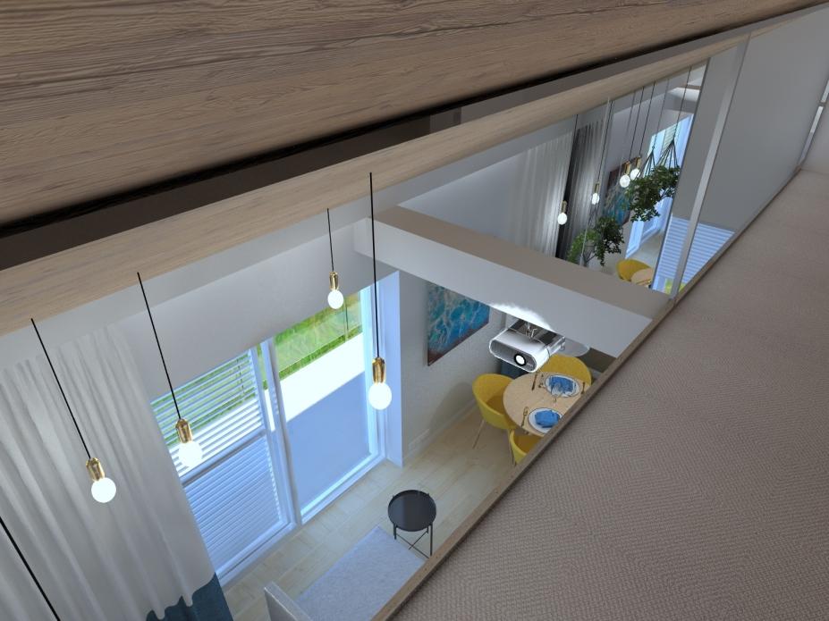 Projekt wnętrz apartamentu - antresola
