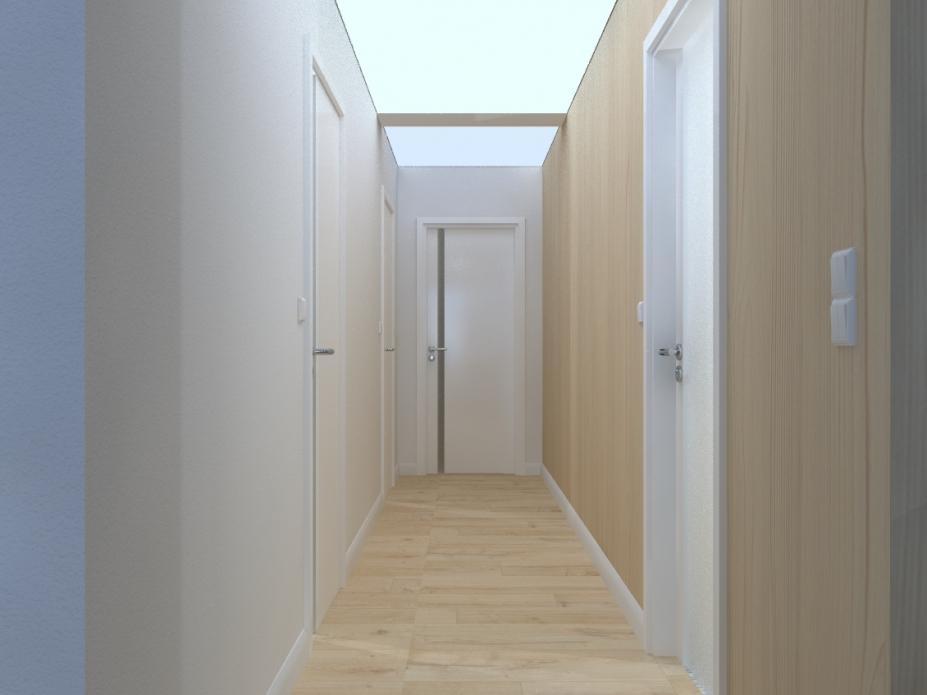 Projekt wnętrz apartamentu - przedpokój