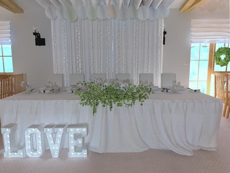 sala dekoracja a